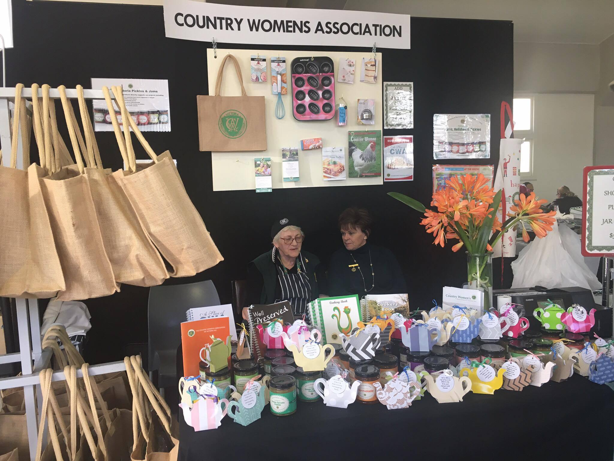 The CWA stand. Photo Annelise Answerth