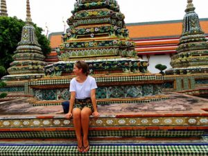 Taking in the sights of Bangkok. Photo courtesy of Madeline Daniell
