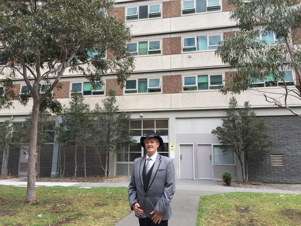 Public housing campaigner on the trail